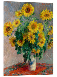 Acrylic print  Sunflower bouquet - Claude Monet