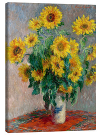 Canvas print  Sunflower bouquet - Claude Monet