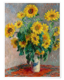 Premium poster  Sunflower bouquet - Claude Monet