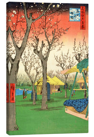 Canvas print  The Plum Garden at Kamata - Utagawa Hiroshige