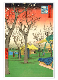 Premium poster The Plum Garden at Kamata