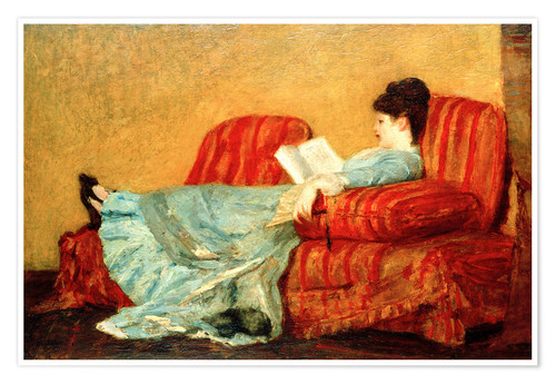 Premium poster Young Lady Reading