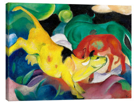 Canvas print  Cows - yellow, red, green - Franz Marc