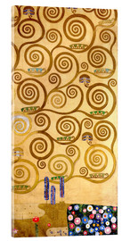 Acrylic print  The Tree of Life (right outer panel) - Gustav Klimt