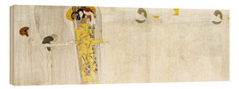 Wood print  Beethove frieze - Gustav Klimt