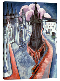 Canvas print  The Red Tower in Halle - Ernst Ludwig Kirchner