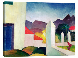 Canvas print  Tunisian Landscape - August Macke