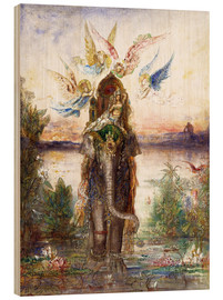 Wood print  The sacred elephant - Gustave Moreau