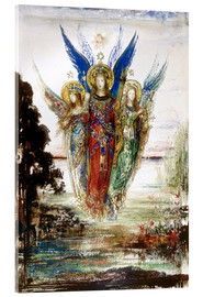 Acrylic glass  Job and the Angels - Gustave Moreau