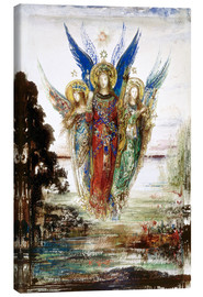 Canvas print  Job and the Angels - Gustave Moreau