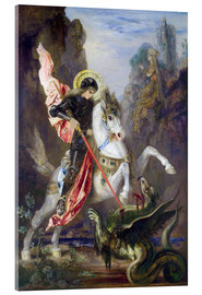 Acrylic print  St. George and the Dragon - Gustave Moreau