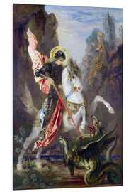 Foam board print  St. George and the Dragon - Gustave Moreau
