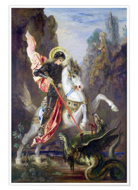 Premium poster  St. George and the Dragon - Gustave Moreau