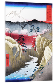 Foam board print  Mount Fuji and birds - Utagawa Hiroshige