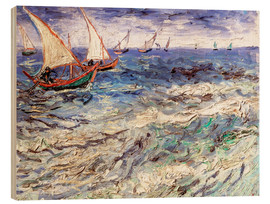 Wood print  Seascape - Vincent van Gogh