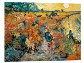 Acrylic glass  The red Vineyard - Vincent van Gogh
