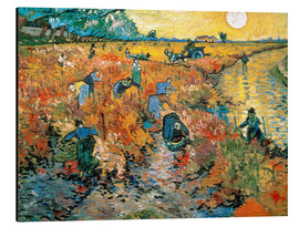 Aluminium print  The red vineyard - Vincent van Gogh