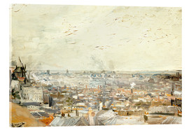 Acrylic glass  Roofs of Paris from Montmartre - Vincent van Gogh