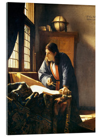 Acrylic print  A geographer or astronomer in his study - Jan Vermeer