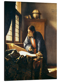 Aluminium print  A geographer or astronomer in his study - Jan Vermeer