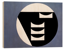 Wood print  Composition in a circle - Sophie Taeuber-Arp