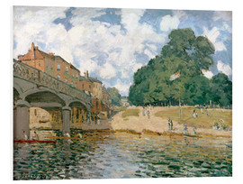 Foam board print  Bridge near Hampton Court - Alfred Sisley