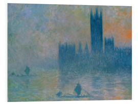 Foam board print  Parliament, Stormy Sky - Claude Monet