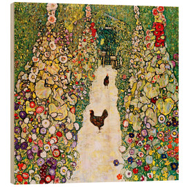 Wood  Garden Path with Chickens - Gustav Klimt