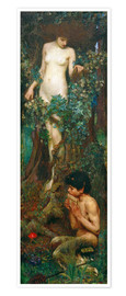 Premium poster  A Hamadryad - John William Waterhouse