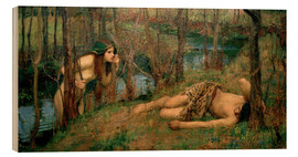 Wood print  Najade - John William Waterhouse