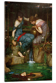 Acrylic print  Nymphs Finding the Head of Orpheus - John William Waterhouse