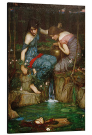 Aluminium print  Nymphs Finding the Head of Orpheus - John William Waterhouse