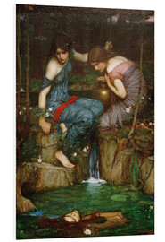 Foam board print  Nymphs Finding the Head of Orpheus - John William Waterhouse