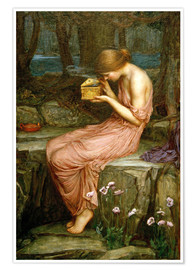 Premium poster  Psyche opening the golden box - John William Waterhouse