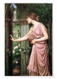 Poster  Psyche opens Cupid's Garden Gate - John William Waterhouse