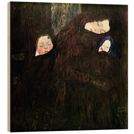 Wood  Mother with children - Gustav Klimt
