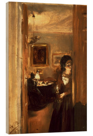 Wood  Living room with Menzels sister - Adolph von Menzel