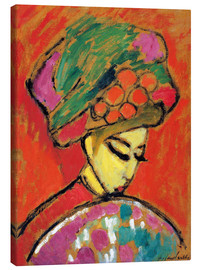 Canvas print  Young Girl in a Flowered Hat - Alexej von Jawlensky