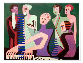 Premium poster  Singer at the piano - Ernst Ludwig Kirchner