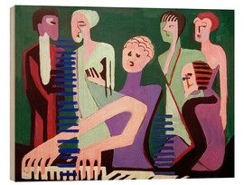Wood print  Singing Pianist - Ernst Ludwig Kirchner