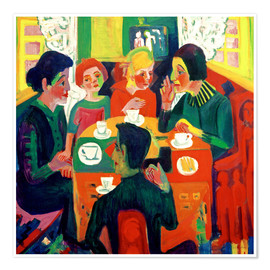 Premium poster  Coffee table - Ernst Ludwig Kirchner