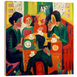 Wood print  Coffee Drinkers - Ernst Ludwig Kirchner