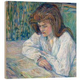 Wood print  the reader - Henri de Toulouse-Lautrec