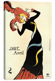 Canvas print  Jane Avril - Henri de Toulouse-Lautrec