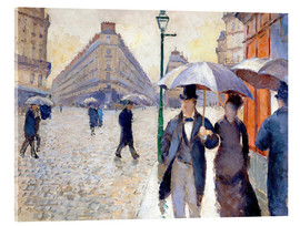 Acrylic print  Rainy day in Paris - Gustave Caillebotte