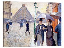 Canvas print  Rainy day in Paris - Gustave Caillebotte