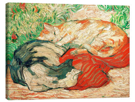 Franz Marc - Cats on a red cloth
