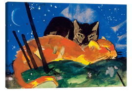 Canvas print  Two cats - Franz Marc