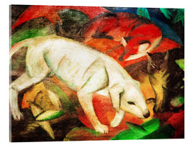 Acrylic glass  Dog, cat, fox - Franz Marc