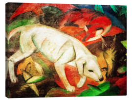 Canvas  Dog, cat, fox - Franz Marc